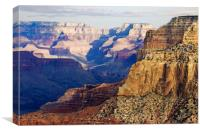 Winter Sunset Over Grand Canyon, Canvas Print