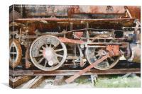 Rusty Train Wheels, Canvas Print