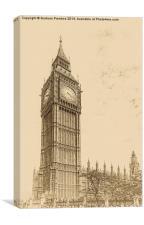 Big Ben - Antique Look, Canvas Print