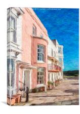 Town Houses, Canvas Print