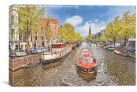 Amsterdam Riverboat, Canvas Print