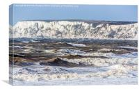 Stormy Sea And White Cliffs, Canvas Print