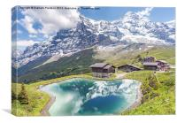 Eiger and Reflection in Alpine Lake, Canvas Print