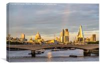 City Of London Skyline At Dusk, Canvas Print
