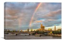 Rainbow Over London, Canvas Print