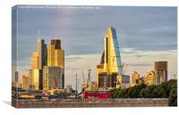 London's Modern Skyline, Canvas Print