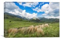 Lakeland Fells at The Old Man Of Coniston, Canvas Print