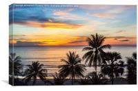 Sunset in Paradise, Canvas Print