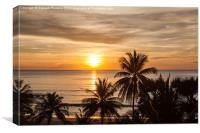 Tropical Sunset, Canvas Print