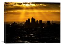 Canary Wharf and Docklands, Canvas Print