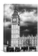 Storm Clouds Gather over the Houses of Parliament, Canvas Print