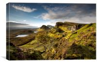 Morning light on the Quiraing, Canvas Print