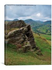 The Newlands Valley, Cumbria., Canvas Print