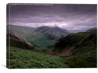 Eagles Cragg From The Langstrath Valley., Canvas Print