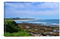 Bamburgh Castle From Seahouses, Canvas Print
