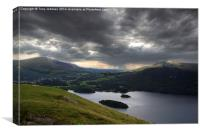 Stormy Skies From Catbells, Canvas Print