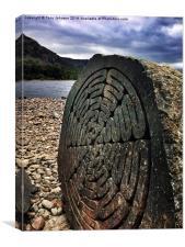 The Millennium Stone, Derwentwater Lake, Canvas Print