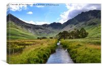 Haystacks From Buttermere Valley, Canvas Print