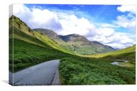 Honister Pass Valley, Canvas Print