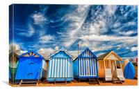 Beach huts at Southend, Canvas Print