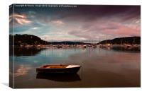 Careel Bay tranquility at dusk, Canvas Print