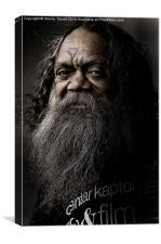Cedric, aboriginal busker, Canvas Print