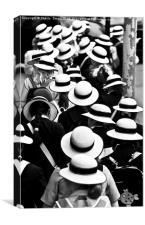 Sea of Hats, Canvas Print