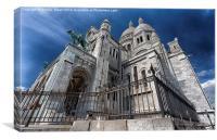 Sacre Coeur, Montmartre, Canvas Print