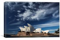 Sydney Opera House with dramatic sky, Canvas Print