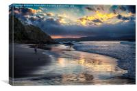 Sunset over Byron Bay, Canvas Print