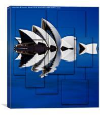 Sydney Opera House abstract, Canvas Print