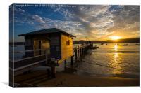 Palm Beach wharf sunset, Canvas Print
