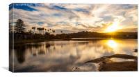 Sunset at Narrabeen Lagoon, Canvas Print