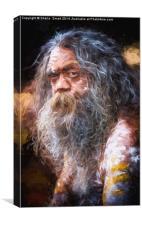Portrait of an Australian aborigine, Canvas Print