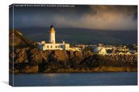 Lighthouse at Douglas, Isle of Man, Canvas Print