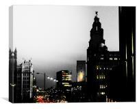 bright lights, big city, Canvas Print