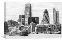 The City Of London In Black And White, Canvas Print