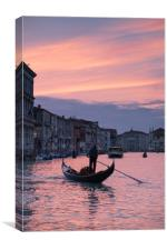 Sunset On The Grand Canal, Canvas Print