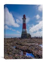 Beachy Head Lighthouse Walk, Canvas Print