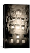 Bodmin Gaol, Black And White, Canvas Print