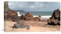 Kynance Cove, Sea View, Canvas Print