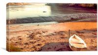 Falmouth River, No Sailing Today, Canvas Print