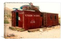 Abandoned Union Pacific Carriage, Canvas Print