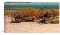 Cart Wheels at Rhyolite, Canvas Print