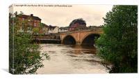River Severn at Bewdley, UK, Canvas Print