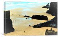 Rocky Beach, Canvas Print