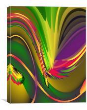Abstract Light & Shade Hot, Canvas Print