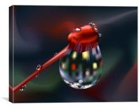 Droplet On Bud Close-up, Canvas Print