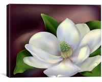 Magnolia Flower, Canvas Print