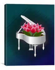 Tulips In Piano, Canvas Print